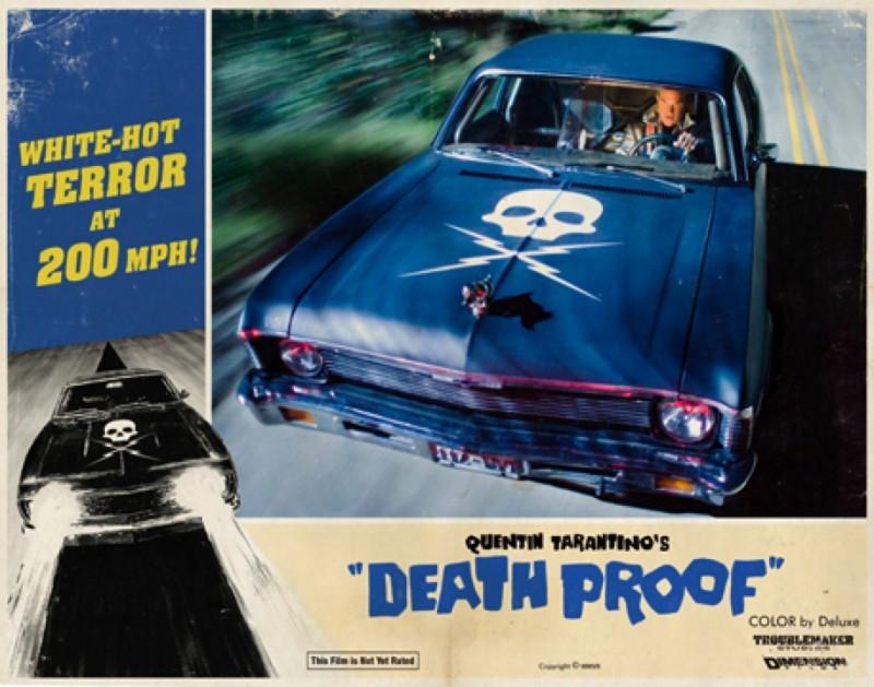 lobbycard promozionale realizzata per Death Proof, uno dei due episodi di Grind House