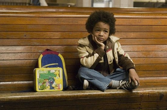 Jaden Smith in una scena del film La ricerca della felicità