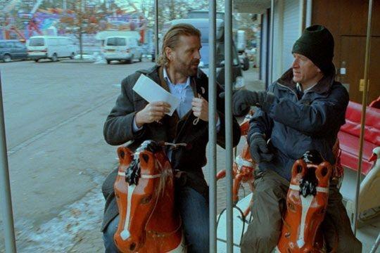 Una scena del film Il grande capo, di Lars Von Trier