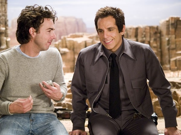 Ben Stiller e Shawn Levy sul set del film Una notte al museo