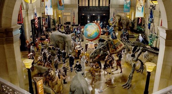 Una scena del film Una notte al museo