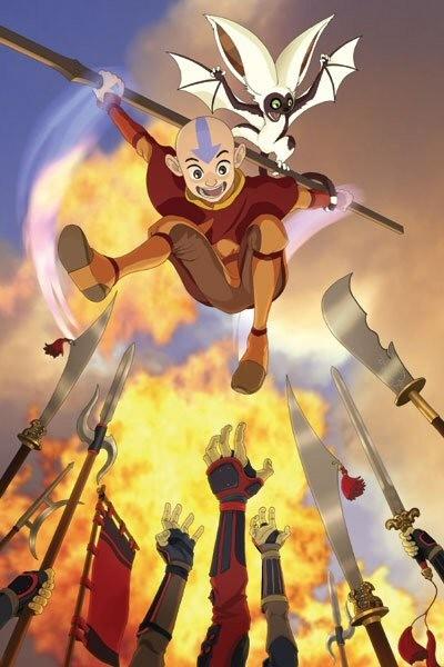 Un'immagine promozionale della serie 'Avatar: La leggenda di Aang'