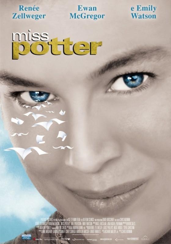 La locandina italiana di Miss Potter