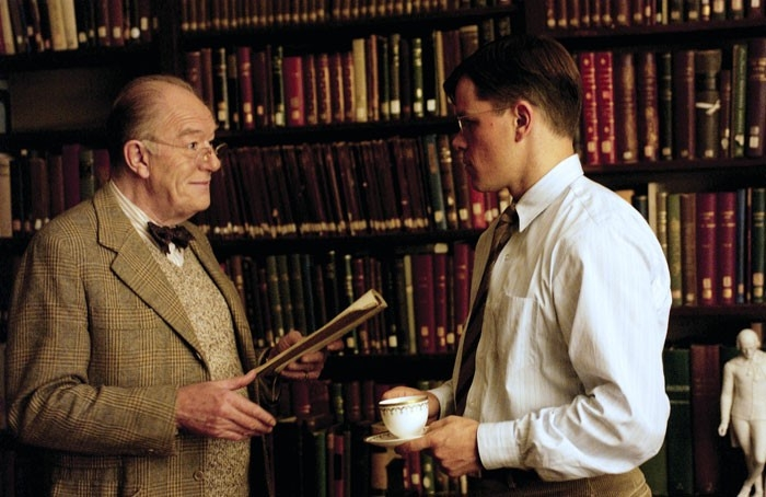 Matt Damon e Michael Gambon in una scena del film The Good Shepherd