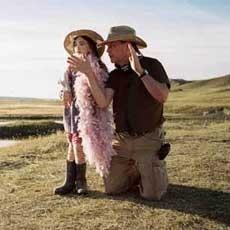 Gilliam sul set di Tideland con la piccola Jodelle Ferland
