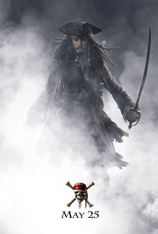 Johnny Depp in un'immagine promo di Pirates of the Caribbean: At Worlds End