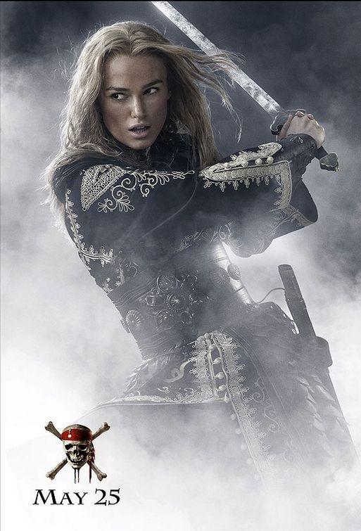 Keira Knightley in un'immagine promo di Pirates of the Caribbean: At Worlds End