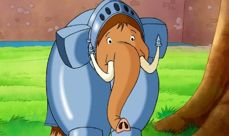 Un simpatico elefante nel film Felix e la macchina del tempo