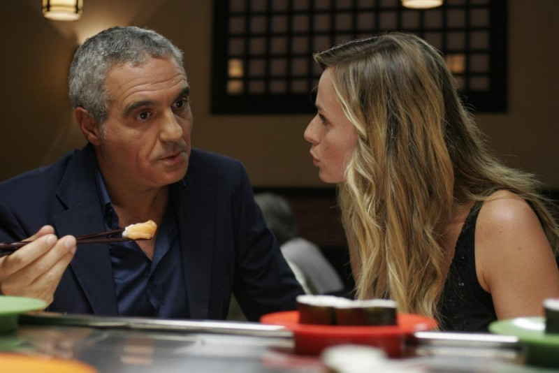 Serena Autieri con Giorgio Panariello in una scena del film Notte prima degli esami - Oggi