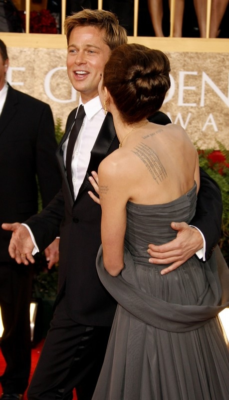 Brad Pitt e Angelina Jolie ai Golden Globes 2007