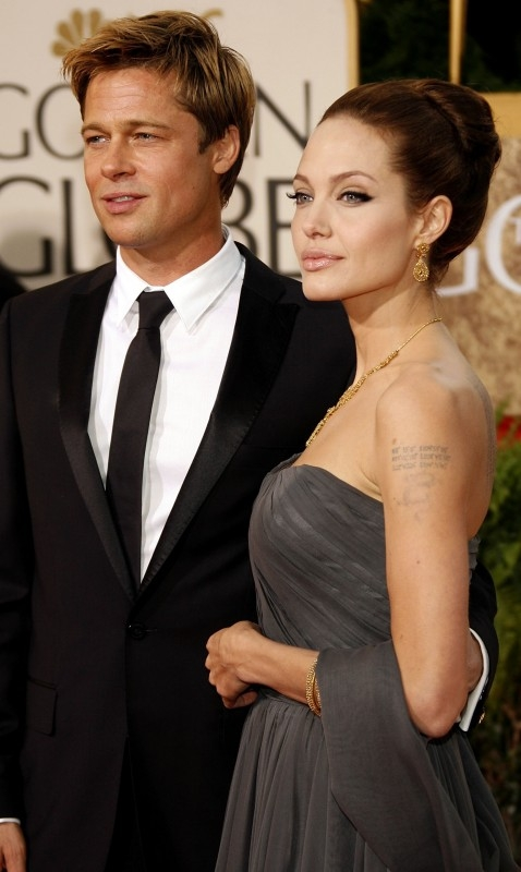 Golden Globes 2007, Brad Pitt accanto a Angelina Jolie