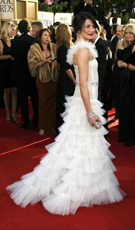 Golden Globes 2007, Cameron Diaz vestita di bianco
