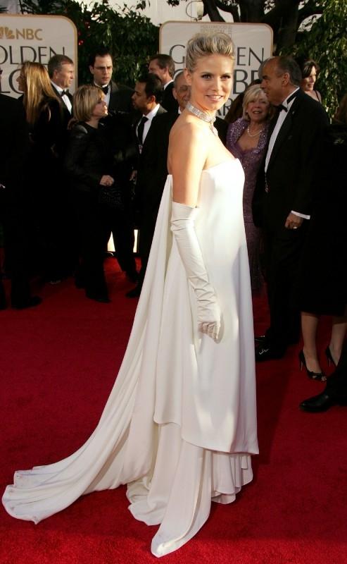 Golden Globes 2007, Heidi Klum anche lei in bianco