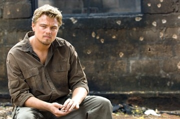 Leonardo DiCaprio in un'immagine del film Blood Diamond - Diamanti di sangue