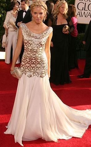 Sienna Miller ai Golden Globes 2007