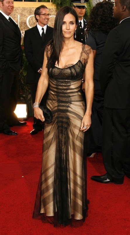 Courteney Cox ai Golden Globes 2007