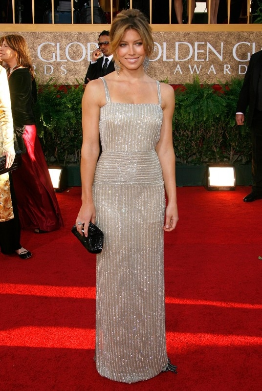 Jessica Biel ai Golden Globes 2007