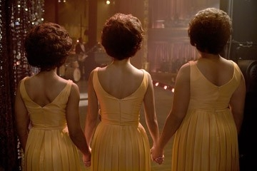 Beyoncé Knowles, Anika Noni Rose e Jennifer Hudson in una scena del musical Dreamgirls