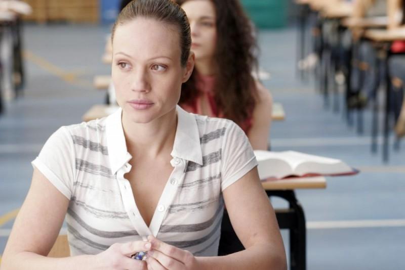 Chiara Mastalli in una sequenza del film Notte prima degli esami - Oggi