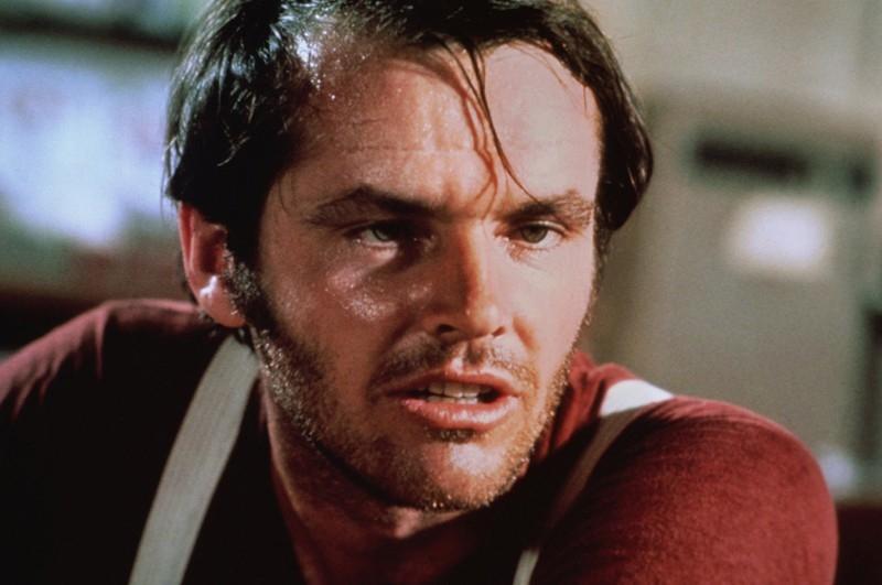 Un primo piano di Jack Nicholson in una scena di Easy Rider