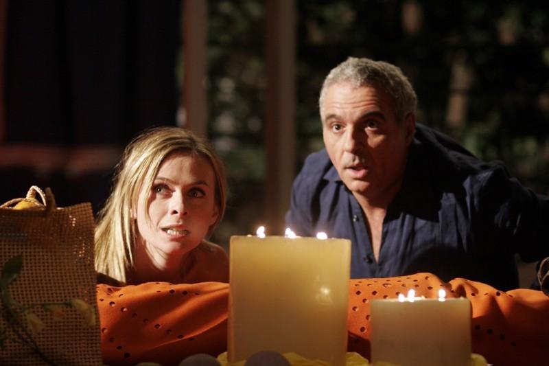 Serena Autieri e Giorgio Panariello in una scena del film Notte prima degli esami - Oggi
