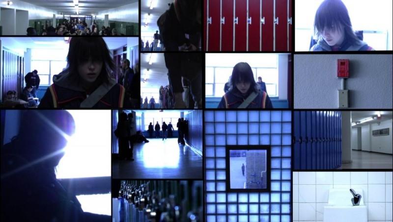 Un esempio delle composizioni dello schermo di 'The Tracey Fragments'