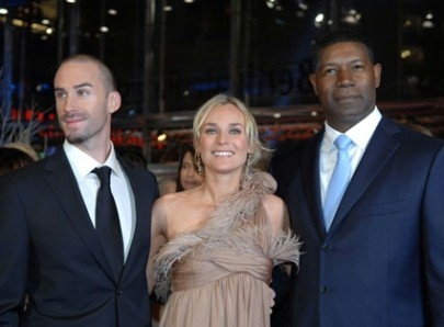 Joseph Fiennes, Diane Kruger e Dennis Haysbert a Berlino 2007 per presentare il film Goodbye Bafana