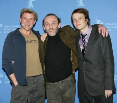 Devid Striesow, Karl Markovics e August Diehl alla Berlinale 2007 per presentare il film