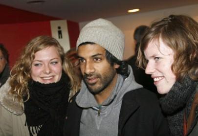 Il calciatore Vikash Dhorasso a Berlino 2007 per presentare il suo film Substitute