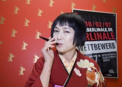 Kaori Momoi a Berlino 2007 per presentare il film Love and Honor