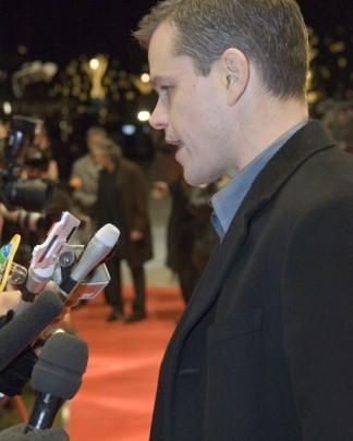 Matt Damon alla Berlinale 2007 per presentare il film The Good Shepherd