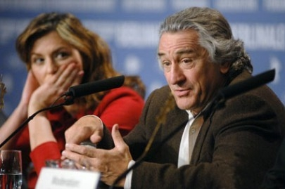 Robert de Niro e Martina Gedeck alla Berlinale 2007 per presentare il film The Good Shepherd