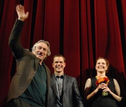 Robert de Niro, Matt Damon e Martina Gedeck alla Berlinale 2007 per presentare il film The Good Shepherd