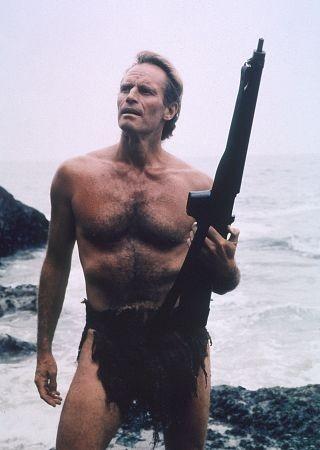 Charlton Heston in una scena de Il pianeta delle scimmie