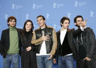 Raúl Arévalo, Maria Ruiz, Antonio Banderas, Alberto Amarilla e Clement Virgo alla Berlinale 2007 per presentare il film El Camino de los Ingleses