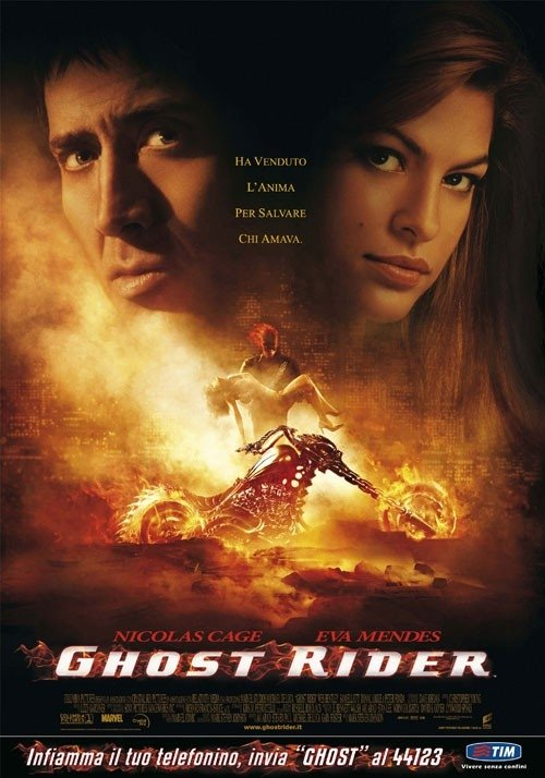 La locandina italiana di Ghost Rider