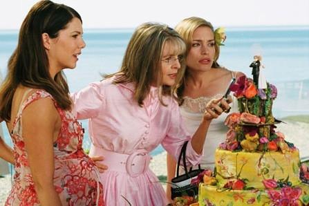 Lauren Graham, Diane Keaton e Piper Perabo in una scena del film Perchè te lo dice mamma