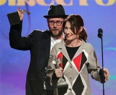 Jonathan Dayton e Valerie Faris vincitori dell'Independent's Spirit Award 2007 per la  Miglior Regia per il film Little Miss Sunshine