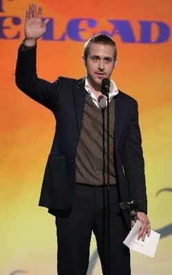 Ryan Gosling vincitore dell'Independent's Spirit Award 2007 come miglior Attore protagonista per il film Half Nelson