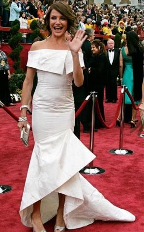 Cameron Diaz al tappeto rosso degli Oscar 2007