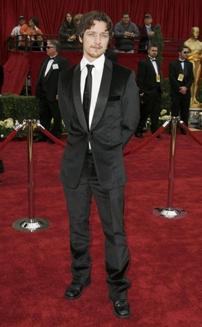 James McAvoy al tappeto rosso degli Oscar 2007
