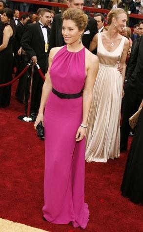 Jessica Biel al tappeto rosso degli Oscar 2007