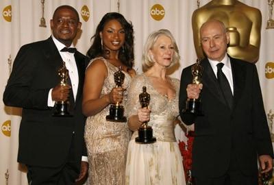 2007 - I quattro attori premiati con gli Oscar: Forest Whitaker, Jennifer Hudson, Helen Mirren e Alan Arkin