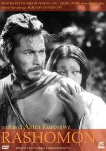 La copertina DVD di Rashomon