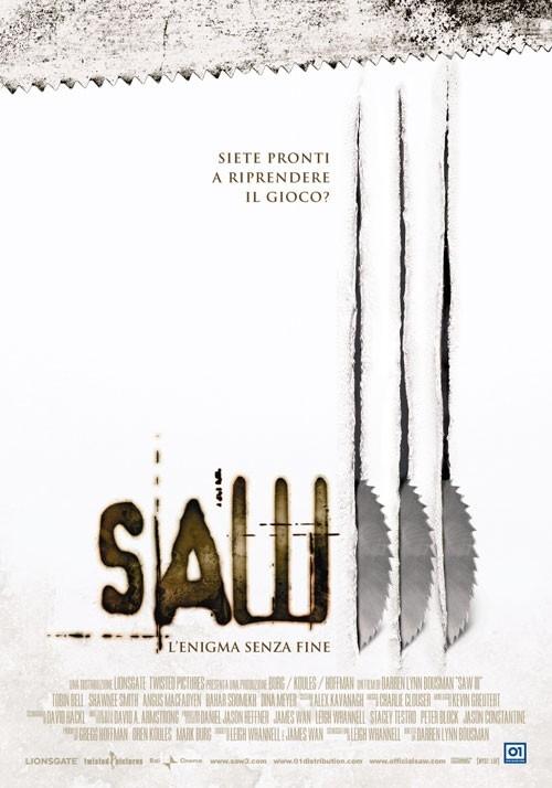 La locandina italiana di di Saw 3