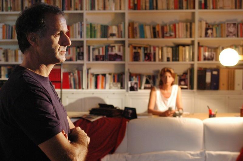 Roberto Citran e Angela Finocchiaro in una scena del film Lezioni di volo