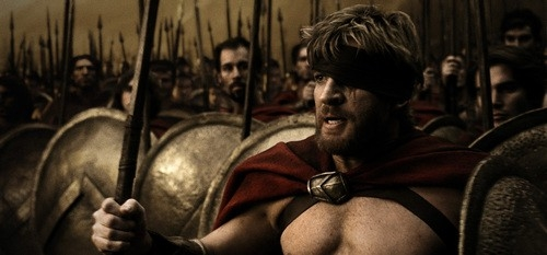 David Wenham in una scena del film 300
