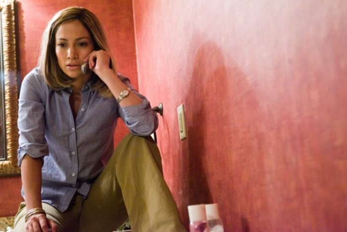 Jennifer Lopez in una scena del dramma Bordertown