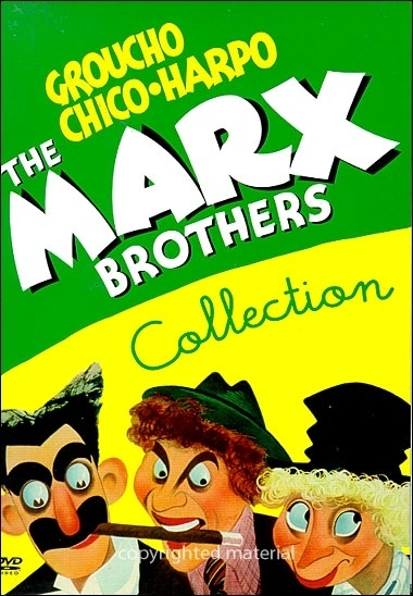 La copertina DVD di The Marx Brothers Collection
