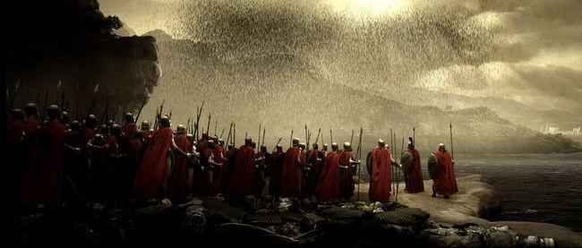 Una scena del film 300